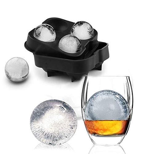 Whisky Ice Cube Ball Molde Molde Ladrillo Barra redonda Accesorios Molde de hielo de color negro de alta calidad Herramientas de cocina-ESPAÑA, Marfil