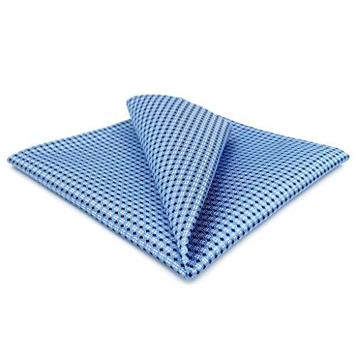 Shlax&Wing Blu Puntini Puntini da uomo Fazzoletto Seta For Attività commerciale