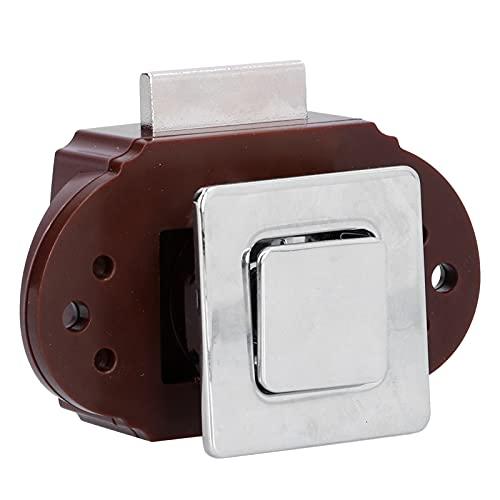 Bloqueo de botón pulsador, sin llave, líneas suaves, perilla de RV, resistente, para yate, para armario, para cajones