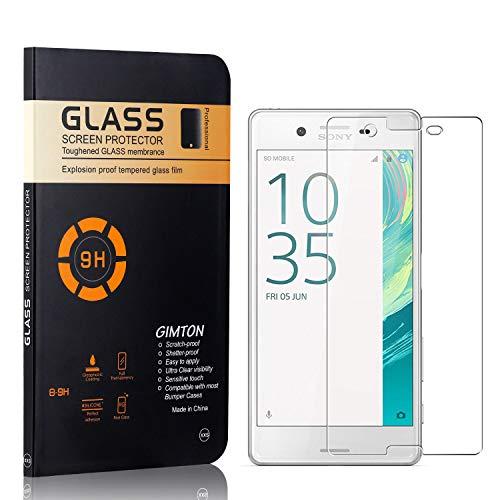 GIMTON Displayschutzfolie für Sony Xperia X, 9H Härte, Blasenfrei, Anti Öl, Ultra Dünn Kratzfest Schutzfolie aus Gehärtetem Glas für Sony Xperia X, 4 Stück