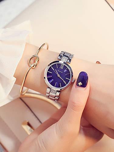 FSTMVV Reloj para Mujer, Tendencia De Moda, Cinturón De Acero con Diamantes De Imitación A Prueba De Agua, Reloj para Mujer, Temperamento, Estilo Coreano, Reloj De Moda Simple