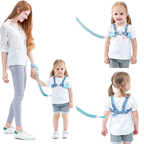 Dr.Taylor Anti-Lost-Handgelenk-Verbindungsgurt, Babygeschirr und Zügel, Kleinkind-Gurt für Kinder, Kleinkind-Zügel für Laufen,Blue,1.5m