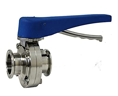 """1-1/2"""" Stainless Steel Tri-Clamp ButterFly Valve from Pro Flow Dynamics"""