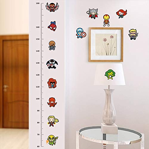 GEYKY Height Measure Chart Wall Stickers for Kids Rooms Decals Art Children Room Decoration Poster Cartoon Boy's Gift