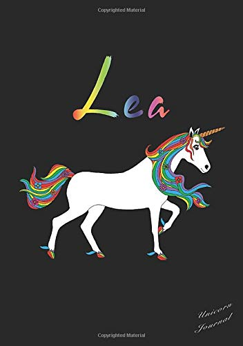 Lea Unicorn Journal: Personal Name Notebook, Medium Ruled, 7mm Line Spacing, Numbered Pages, With Contents and Index Pages, Bullet Point Planner, ... Personalized Notebooks For Girls And Women) download ebooks PDF Books