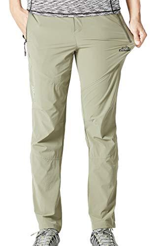 Geval Extérieur Extensible à séchage Rapide Camping randonnée Pantalons Respirants Pantalons Simple d'homme M Kaki