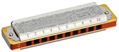 TOMBO トンボ 10ホールズハーモニカ LF調 フォークブルースマークII 1210