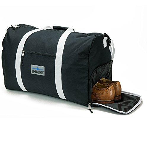 Shacke's Travel Duffel Express Weekender Bag with Shoe Pouch