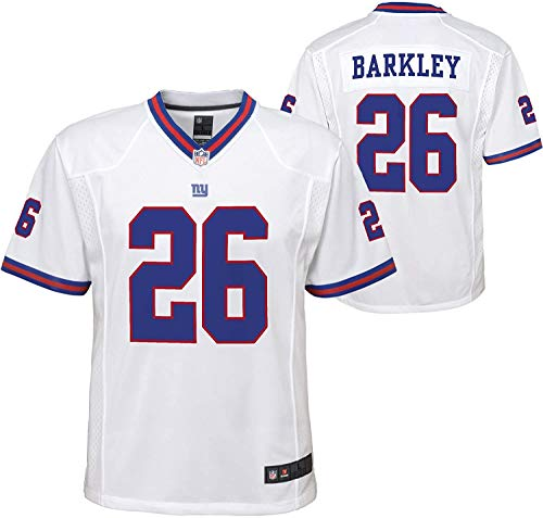 Outerstuff Youth Saquon Barkley New York Giants White Replica Jersey (Youth Medium (10-12))
