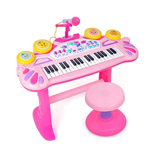 Kylinnppl Teclado eléctrico Piano for niños, Teclado de Karaoke Musical electrónico portátil,...