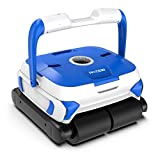 PAXCESS Wall-Climbing Automatic Pool Cleaner with Twin Large 180um Filter Basket,Tangle-Free Cord Up to 50 Feet,Robotic Pool Cleaner,Do Intelligent Cleaning,Suit for Above/In-ground Swimming Pool