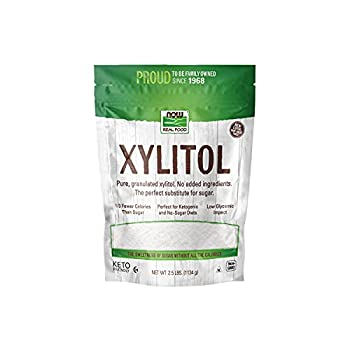 NOW Natural Foods Xylitol Pure with No Added Ingredients Keto-Friendly Low Glycemic Impact Low Calorie 2.5-Pound  Packaging May Vary