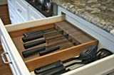 Deluxe KNIFEdock - In-drawer Kitchen Knife Storage (15 in x 13 in x 2.5 in)- Easily Identify Your...