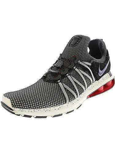 Nike Shox Gravity Mens Running Shoes 10 M US Black/Black-sail-University Red
