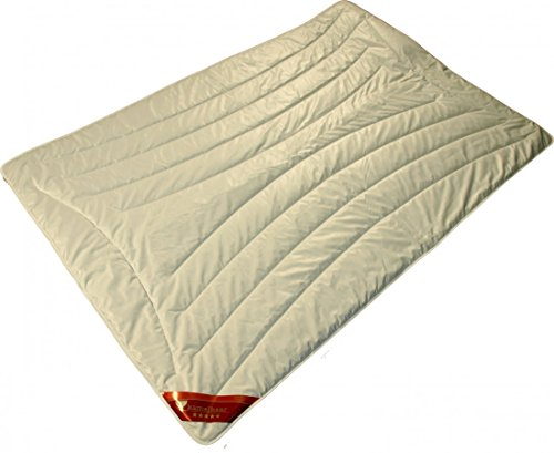 Bettdecke 135 x 200 / 500 g - Extra leichtes Steppbett Garanta mit 100% Kamelhaar Füllung - Steppdecke für den Sommer