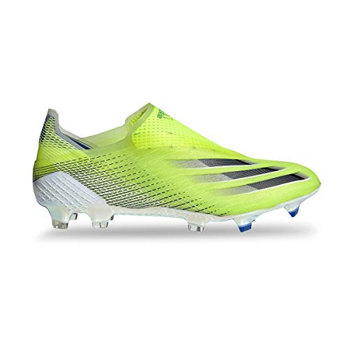 adidas X Ghosted+ FG, Bota de fútbol, Solar Yellow-Black-Team Royal Blue, Talla 6 UK (39 1/3 EU)