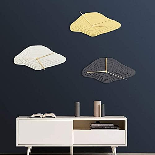 Reloj de pared con diseño minimalista nórdico, dorado, negro, blanco, de cerámica, para decoración de salón, dormitorio, 35 x 17 cm, color negro y blanco