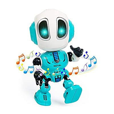 Jorttoys Talking Robot Toys for Kids, Mini Robot Toys Repeats What You Say with Flashing Lights and Touch Control, Children Toys Gifts for Boys and Girls Age 3 4 5 6 7 8 9