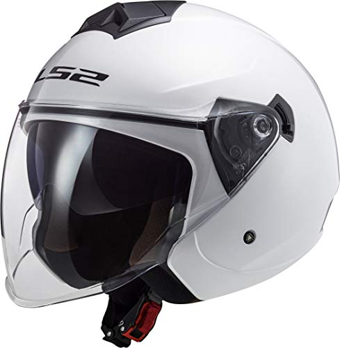 LS2 Twister II Casco para Motocicleta, Hombre, Blanco, XXL (63/64)