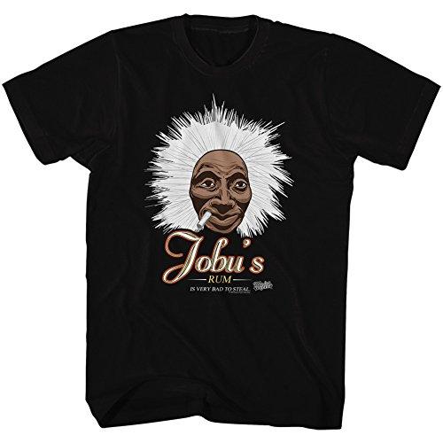 American Classics Major League Sports Comedy Baseball Movie Jobu's Rum Black Adult T-Shirt Tee