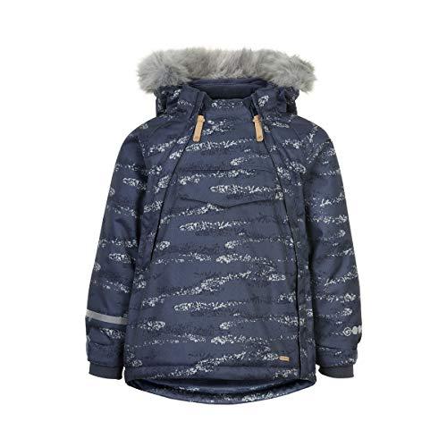 MINYMO Baby Jungen Winterjacke mit Fellkapuze Funktion 8000 mm, Größe:80, Farbe:Ombre Blue