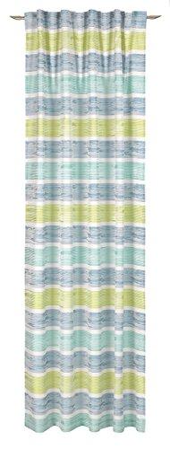 Decoratieve trends sjaal verborgen lus, stof, blauw-groen, 245 x 146 cm