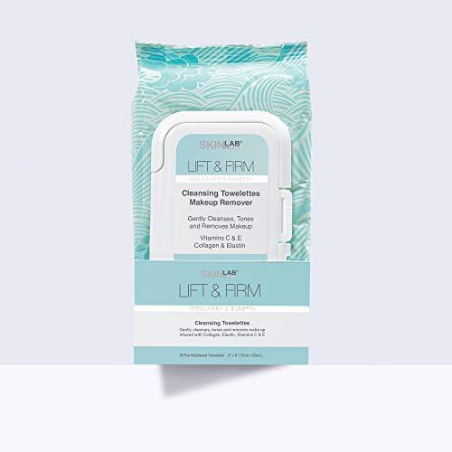 SKIN LAB BY BSL par bsl lift & firm towelettes démaquillant 60 collagène hydrolysé comte-, vitamines c et e, extraits de thé vert et aloe vera laisser votre peau fraîche propre et lisse
