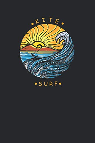 Kite Surfing: A5 Notizbuch liniert I Bullet Journal Hardcover I Kite Surf Tagebuch