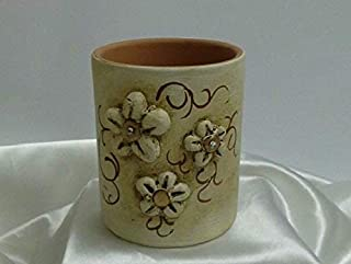 Portapenne, Portaspazzolino in ceramica linea fiori e cristalli