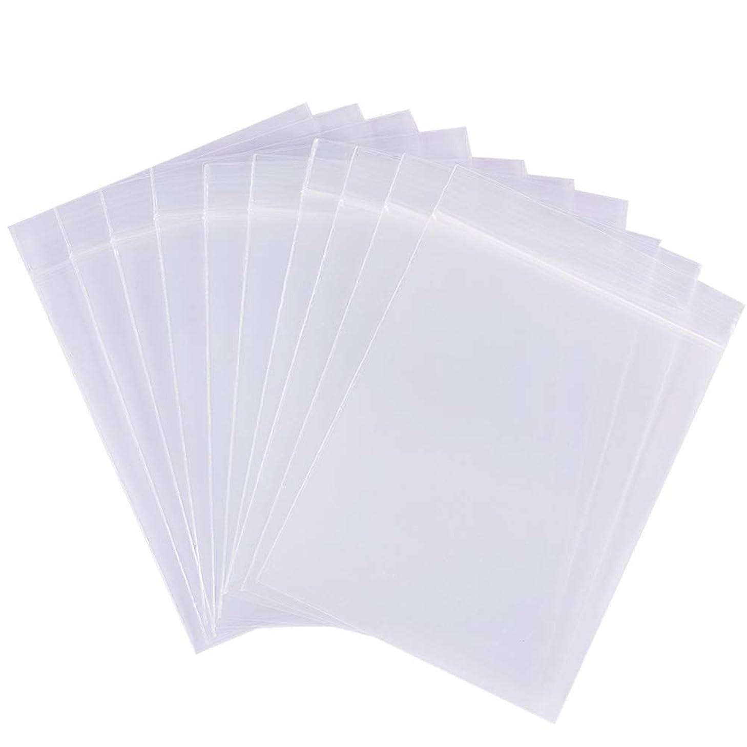 200枚チャック袋 透明チャック付ポリ袋 リサイクル可能プラスチック袋 密封保存袋