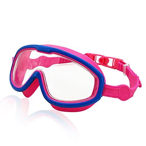 YWSZY Gafas Natacion, Gafas de natación de Gran Angular Transparentes Anti-Ultravioleta y Anti-Niebla Gafas de natación para niños de 4 a 15 años (Color : Red)