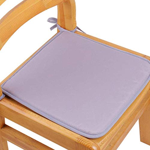 YNGH Set of 2 Premium seat Cushions for Chairs with Laces Patio Cushions for bar/Garden/Kitchen Many Colors (Dark Coffee),A-Light Gray