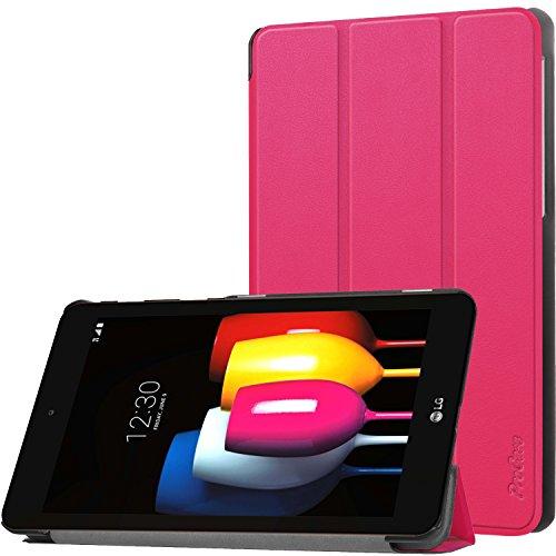 ProHülle Sprint LG G Pad F2 8.0 Hülle, Slim Stand Hartschalenkoffer Intelligente Abdeckung für LG G Pad F2 8.0 LK460 Tablet 2017 –Magenta