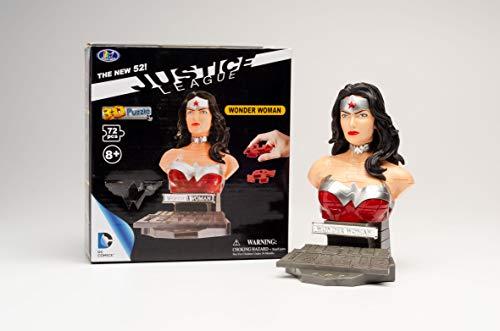WONDER WOMAN Puzzle Fun 3D 80657220-Justice League Comic Wonderwoman para Crear y Jugar con o como Regalo (Happy Well International Enterprise HWIUDC57220)