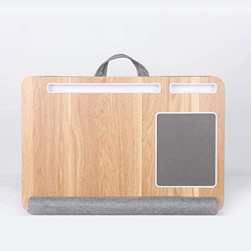 Laptop Tray With Cushion, Built In Mouse Pad Wrist Pad For Notebook Up To 15-17' With Tablet, Pen Phone Holder