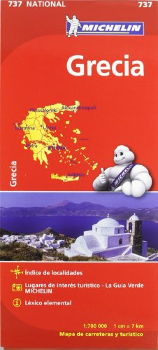 Mapa National Grecia Mapas National Michelin