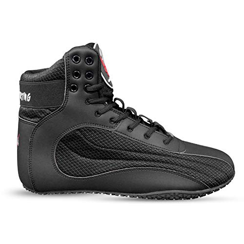 Ninja Viking Wrestling Shoes for Men and Women, Top Combat Speed Mens Weightlifting, Powerlifting, Workout, MMA, Boxing Boots, Lightweight, Easy to Wear, Non Slip Red and Black Shoe
