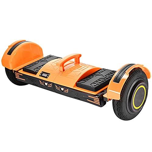 Scooter Galvánico De Auto-balanceo De Hoverboard, Hoverboard LED Débil, Batería con Altavoz Bluetooth, Motor Sin Escobillas (Color : Orange)
