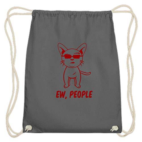 Hochwertige Baumwoll Gymsac - Ih, Menschen - Ew, People Katze Kitty Kitten - Schlichtes Und Witziges Design