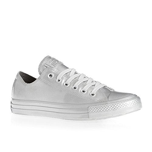 Converse - Frauen Chuck Taylor All Star Low Top Schuhe in Metallic Gummi, EUR: 37.5, Pure Silver/Pure Silver/Pure Silver