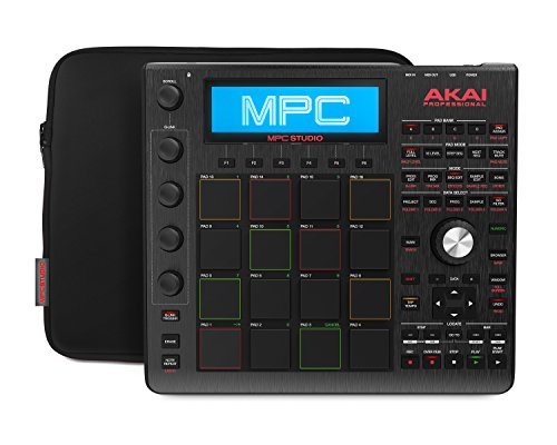 Akai Professional MPC Studio Black | Ultra-Portable MPC With MPC Software (Download), USB Power, LCD Screen, Touch Sensitive Encoders, Brushed Aluminium Body & Data Dial