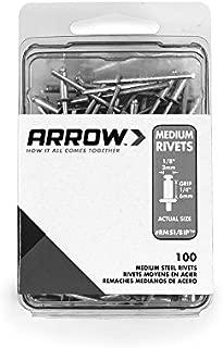 Arrow Fastener RMS1/8IP Medium Steel 1/8-Inch Rivets, 100-Pack