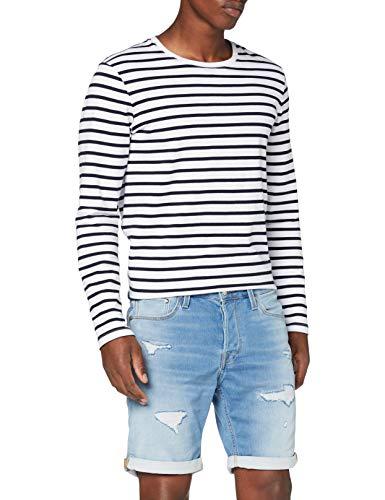 JACK & JONES Male Jeansshorts Rick Icon GE 009 Indigo Knit MBlue Denim