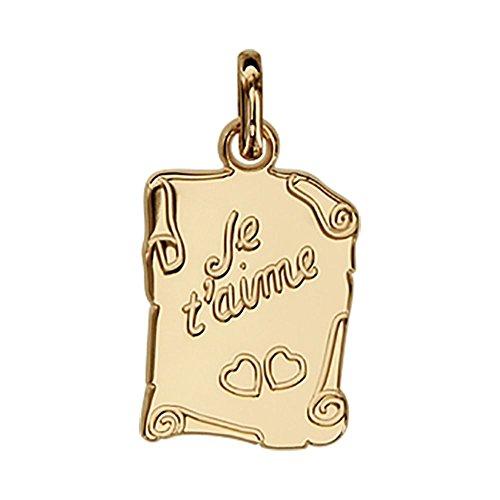 """Helios Bijoux-Lámpara colgante de corazones con texto """"Je t"""