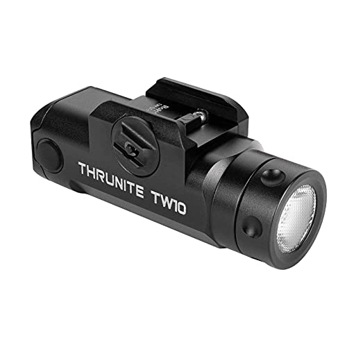 ThruNite TW10 Weaponlight Customized Black Scout Survival Edition USB-C Rechargeable Rail Mount Tactical Flashlight