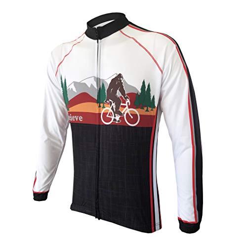 CORVARA BIKE WEAR Men's Bigfoot Cycling Long Sleeve Bike Jersey (5X-Large) Black