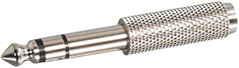 C2G 40639 1/4 Inch Stereo Male to 3.5mm Stereo Female Adapter, TAA Compliant, Silver