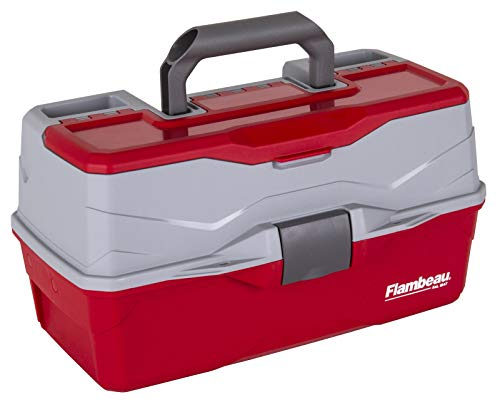 Flambeau Outdoors 6383TB 3-Tray - Classic Tray Tackle Box - Red/Gray