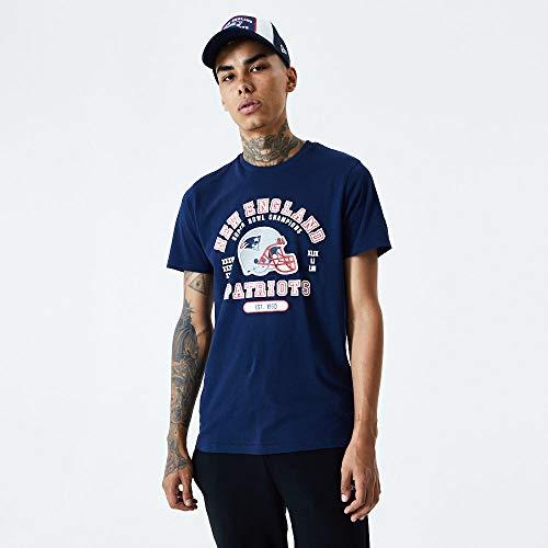 New Era NFL New England Patriots Helmet and Wordmark Tee T-Shirt, Größe :L