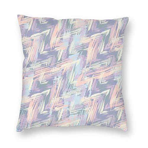 BONRI Funda de almohada abstracta de 45,7 x 45,7 cm, suave y fácil de cuidar, ligera, antiarrugas, antiincrustante, cremallera invisible